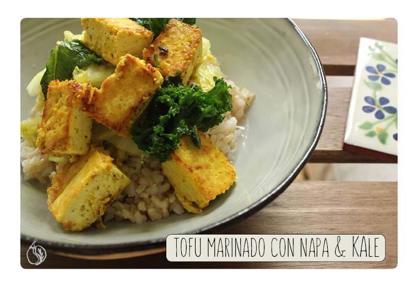 napa and kale con tofu