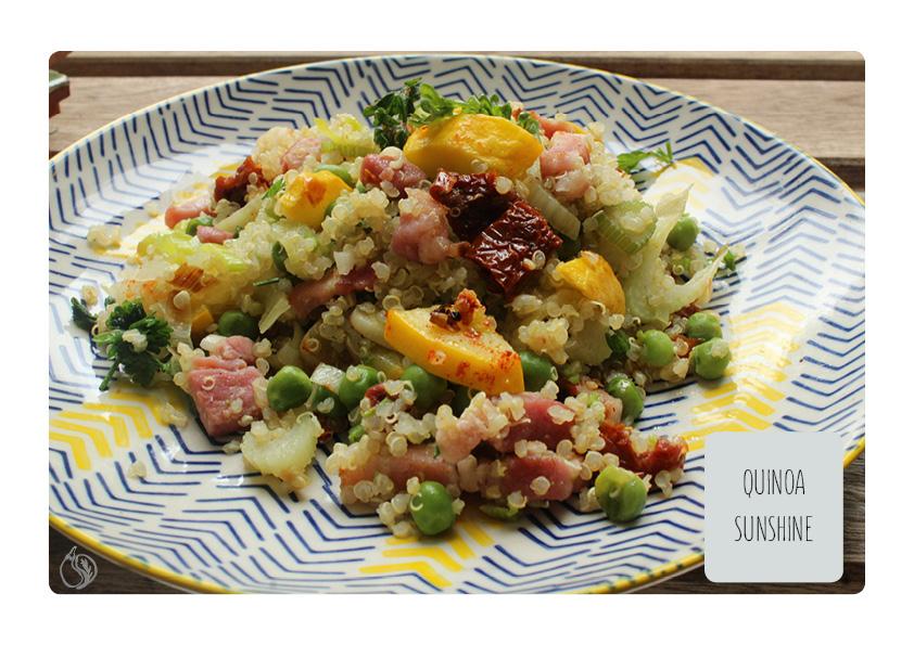 zoom guisantes con quinoa